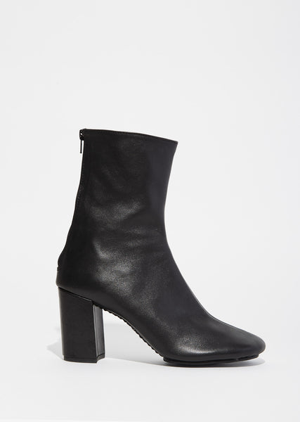 Tall Leather Ankle Boots