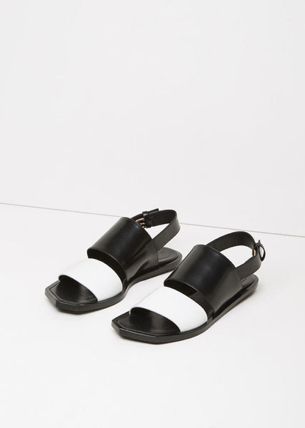 Bi-Color Flat Sandal