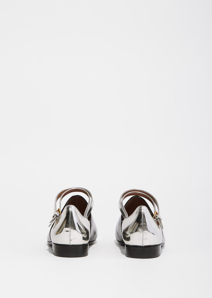 Contrast Buckle Strap Flat