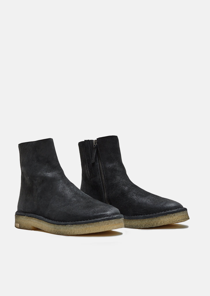 Contrast Stitching Suede Boots