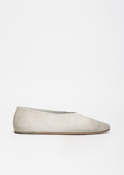 Coltellaccio Distressed Suede Flats