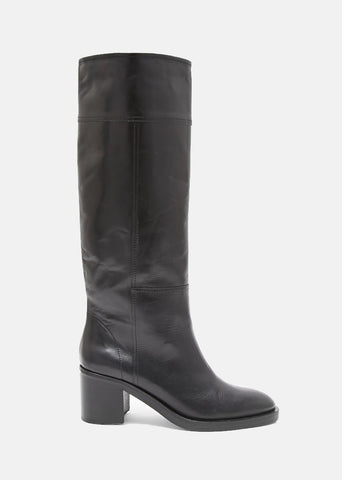 Brushed Effect Replica Tall Boots