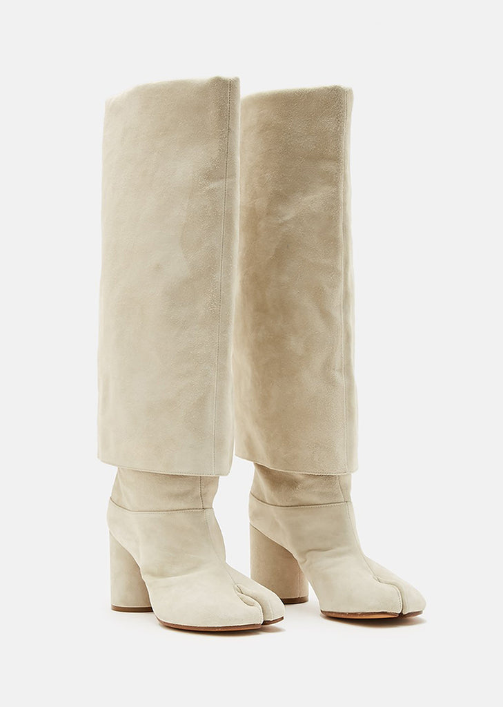 Suede Tall Tabi Boots