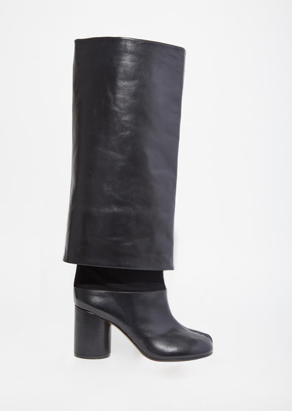 Foldover Leather Boots
