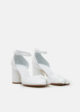 Patent Leather Tabi Sandals