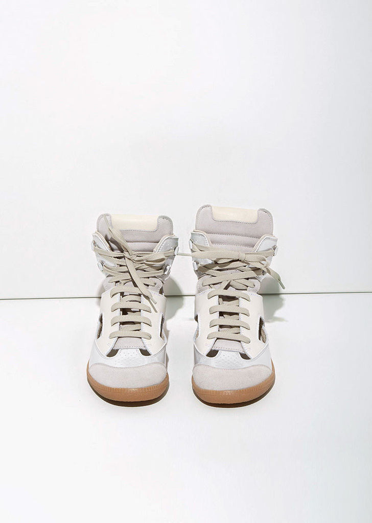 Cut-Out High-Top Sneaker