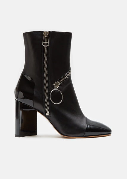 Patent Leather Ankle Boots