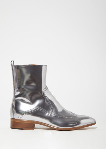 Brushed Effect Ankle Boot