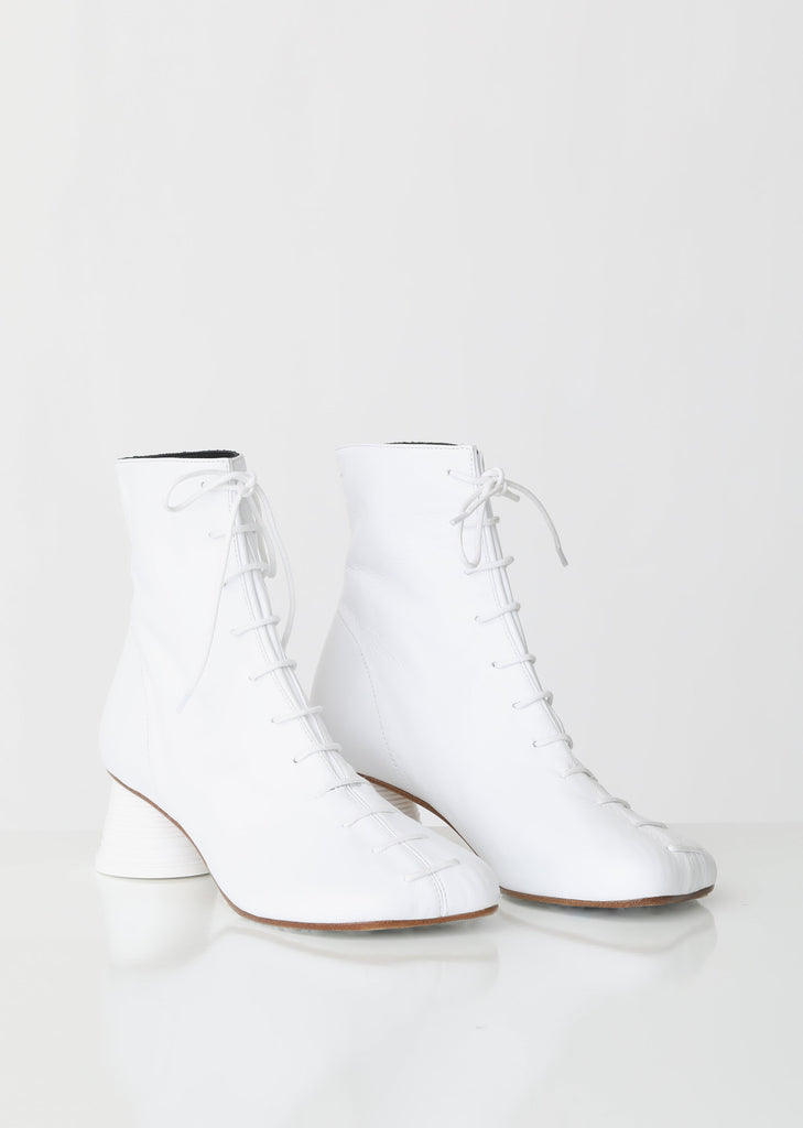 Lace Up Cup Heeled Boots