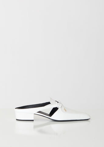 Bow Slip-On Leather Mules