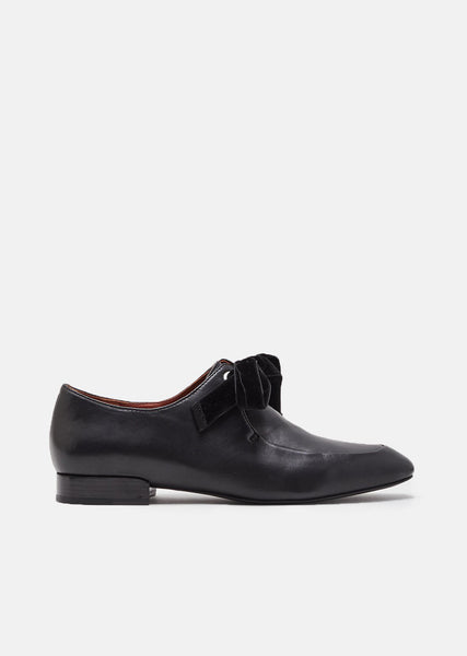 Square Toe Lace Up Oxfords
