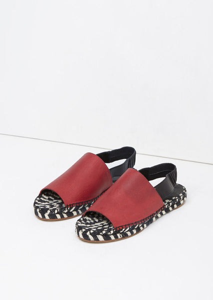 Leather Slingback Espadrille