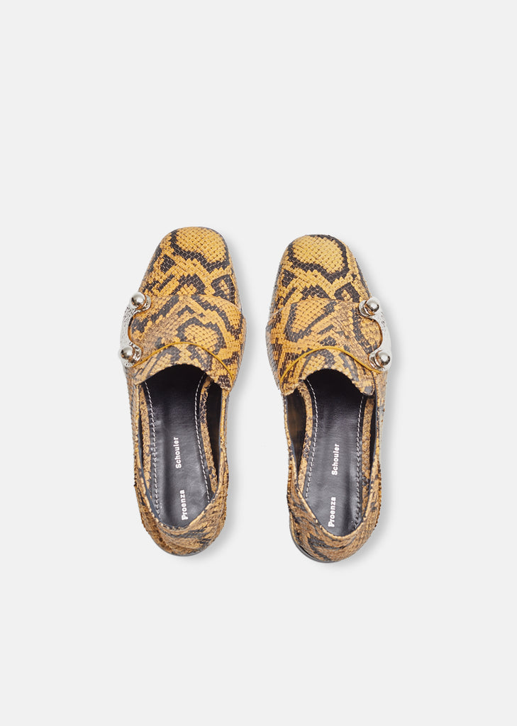 Snake Skin Buckle Loafers