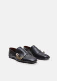 Leather Buckle Loafers