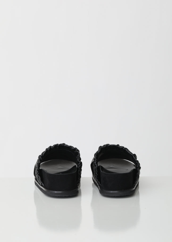 Platform Leather Slides