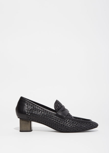 Povain Braid Heeled Loafer