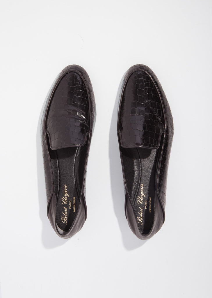 Fani Croc Embossed Loafer