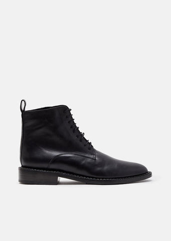 Jacen Calf Leather Lace Up Boots