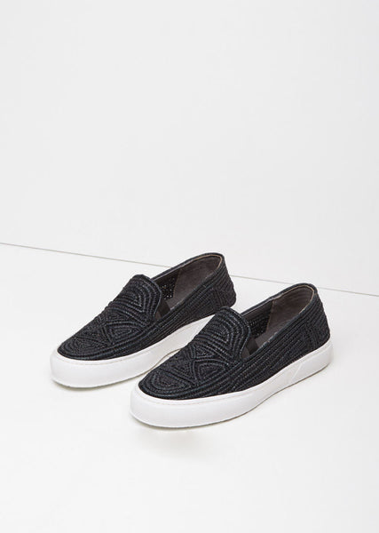 Robert Clergerie Tribal Raffia Slip-On La Garconne