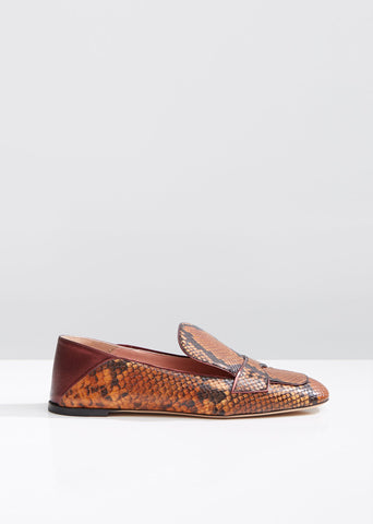 Python Babouche Loafers
