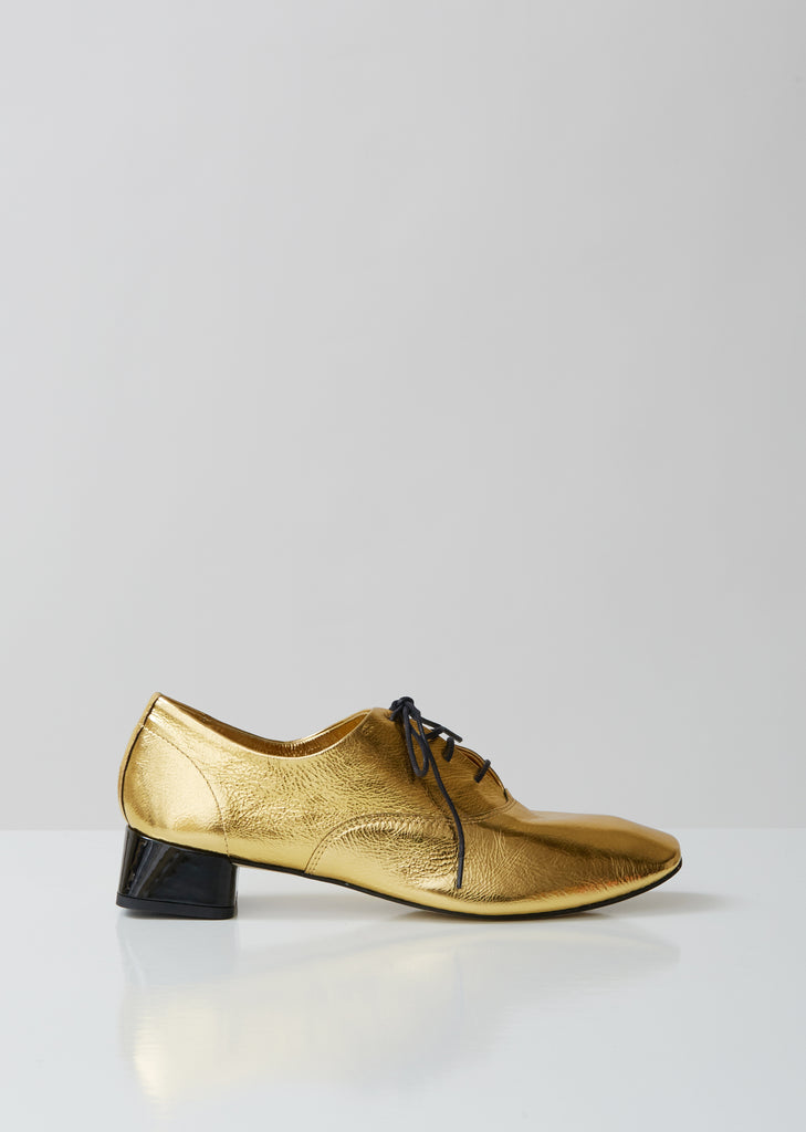 Mark Lace up Gold + Patent heel