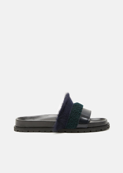 Lamb Fur Slides