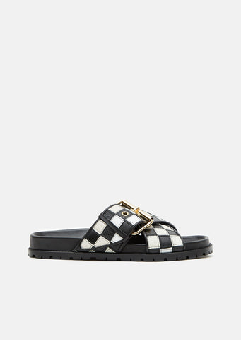 Leather Patch Work Sandal