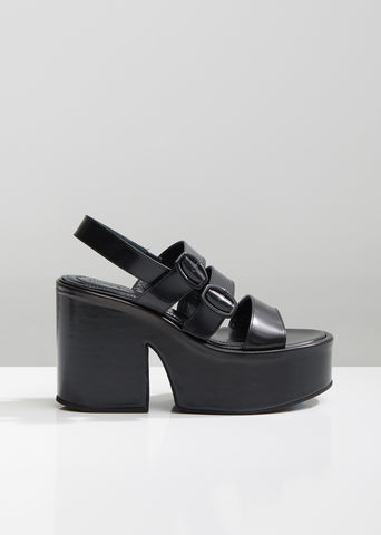 Platform Leather Sandal