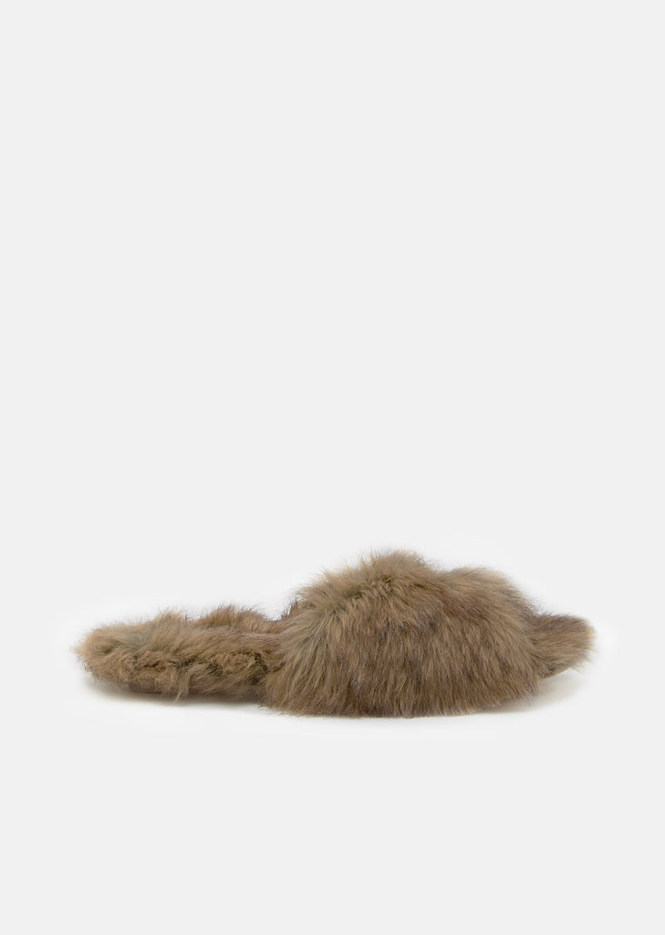 Bow Long Fur Mule