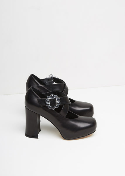 Leather Mary Jane Heel