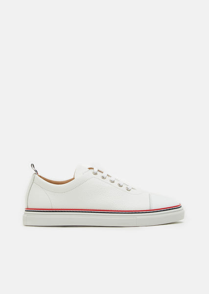 Toe Cap Leather Trainers