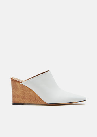 Flora Leather Mules