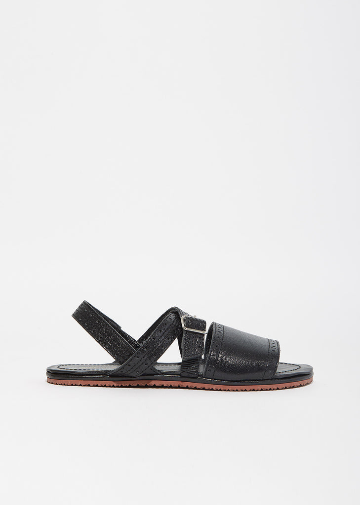 Perforated Leather Sandal