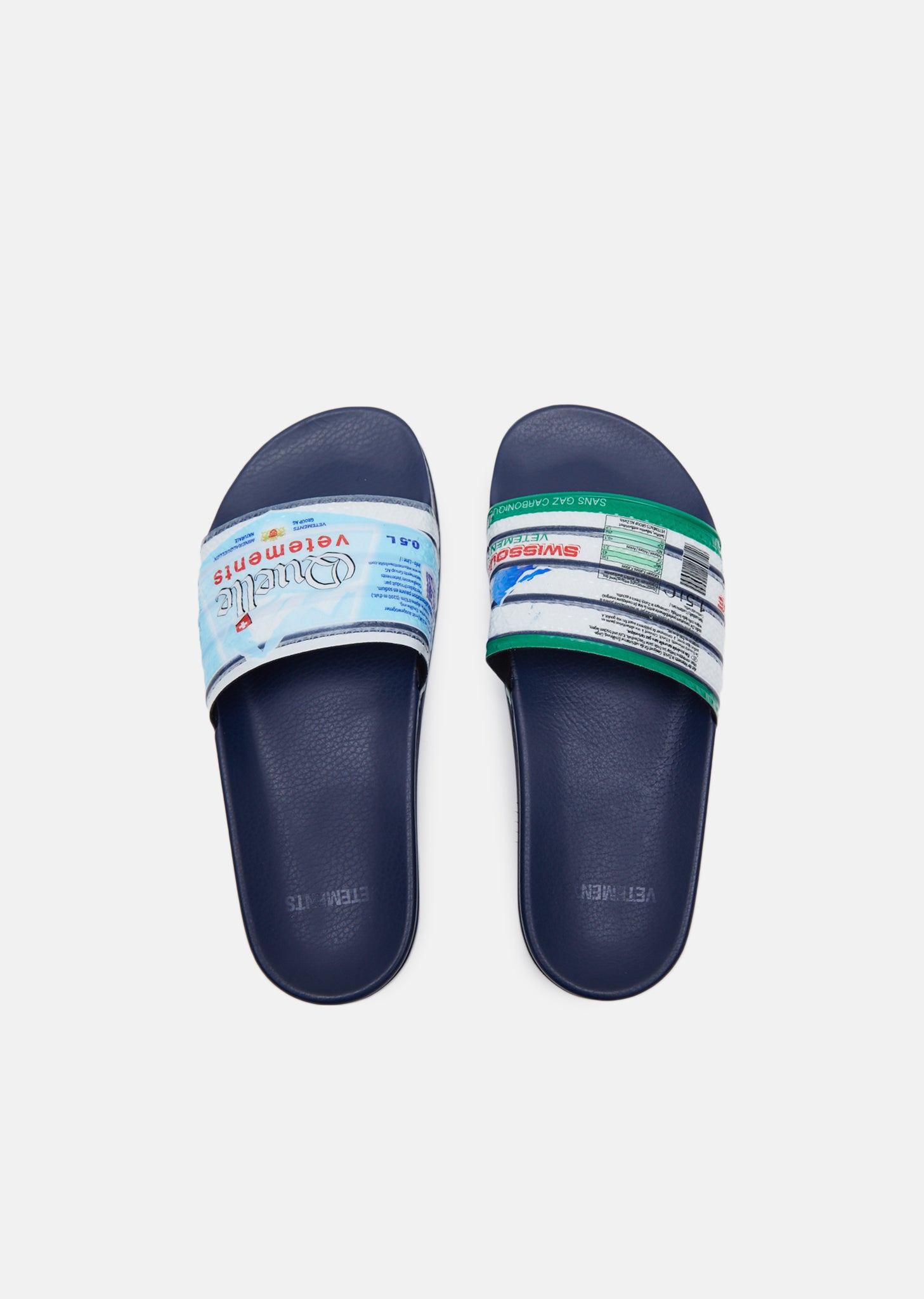 Vetements Printed slides sale affordable 2015 sale online cheap sale big sale perfect cheap online free shipping footlocker pictures 3G2iXY