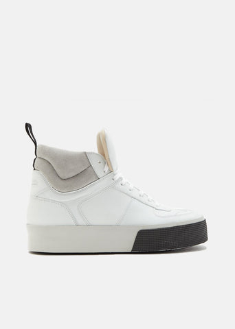 Slam Leather Suede High Top Sneakers