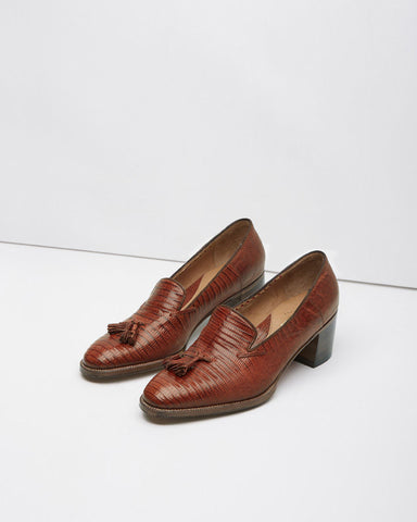 Heeled Tassel Loafer