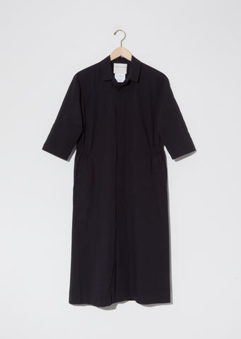 Cotton Apron Dress — Black