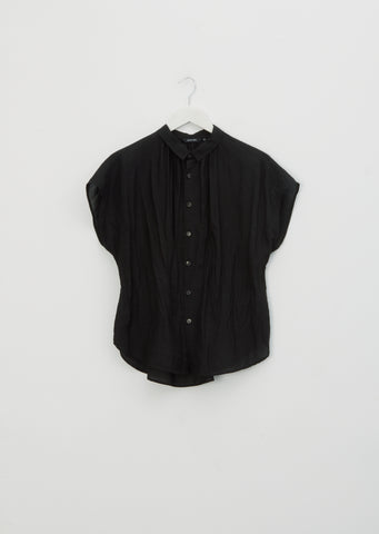 Tencel & Ramie Blouse — Black
