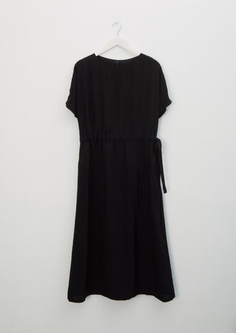 Viscose Boat-Neck Dress