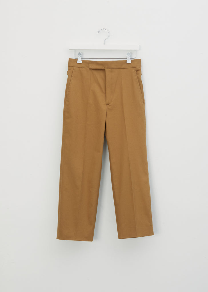 Stretch Cotton Twill Tapered Pants