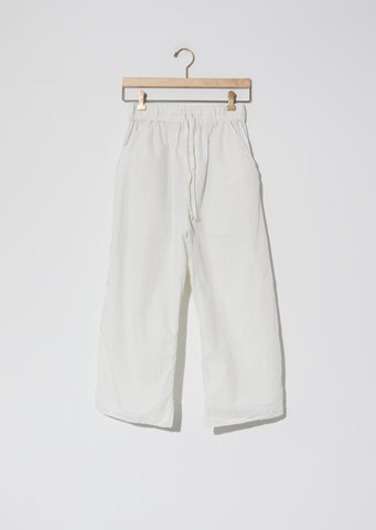 Wide & Short Trousers TC — Chalk