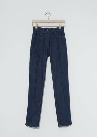 Denim Fitted Pants — Jean Blue