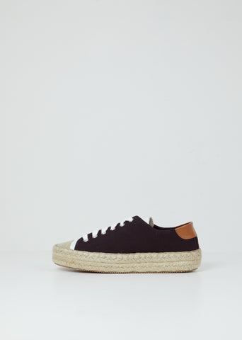 Espadrille Trainer — Black