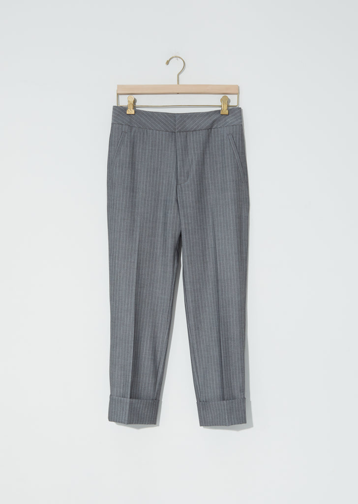Jet Trousers — Grey Pinstripe
