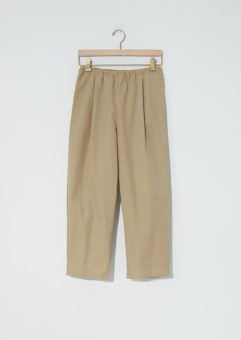 Plain Popeline Pants — Ecru