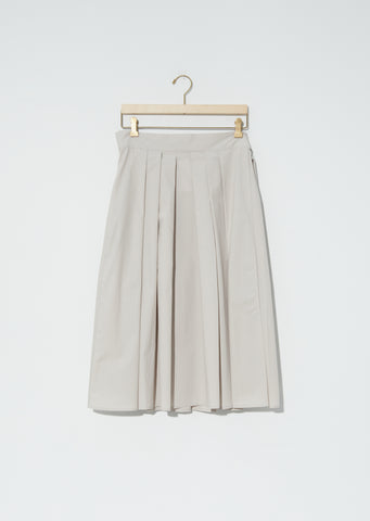 Stella Cotton Twill Pleated Skirt