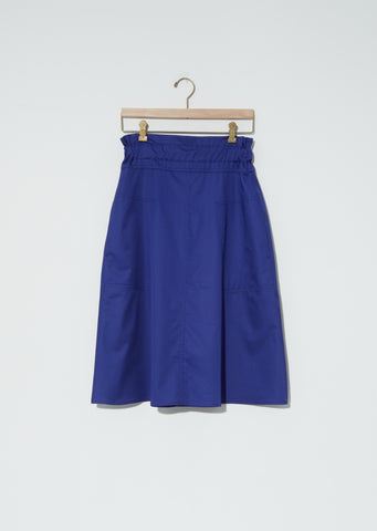Sabine Light Cotton Satin Skirt