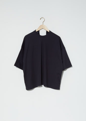 Temper Fine Cotton Fleece Top — Black