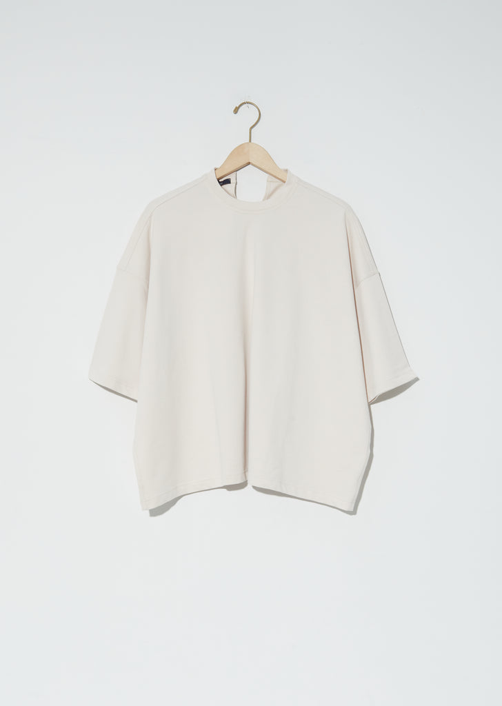 Temper Fine Cotton Fleece Top — Porcelain