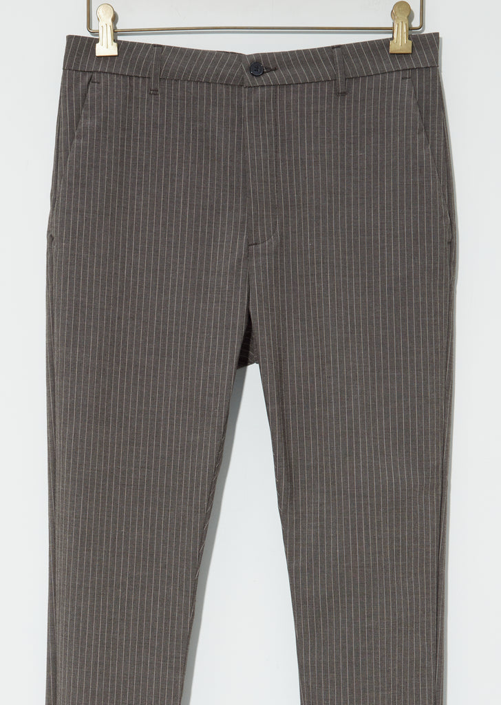News Edit Trouser — Khaki Brown Stripe